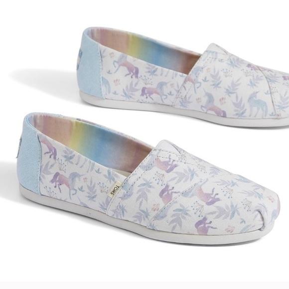 Toms Watercolor Unicorn Shoes